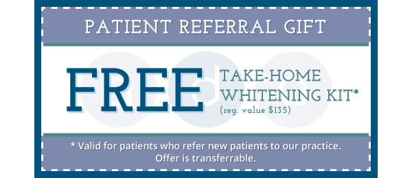 Free Take-Home Whitening for Dental Referrals